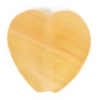 Glass Pressed Beads 10x10mm Heart Butter Yellow Matt